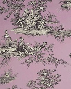 Manuel Canovas Wallpaper, muave Thorigny classic French Design